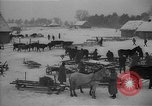 Image of Russian farm workers on snow covered farm Kiev Ukraine, 1947, second 5 stock footage video 65675053671