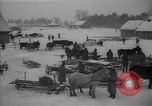 Image of Russian farm workers on snow covered farm Kiev Ukraine, 1947, second 7 stock footage video 65675053671