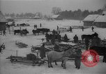 Image of Russian farm workers on snow covered farm Kiev Ukraine, 1947, second 8 stock footage video 65675053671