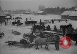 Image of Russian farm workers on snow covered farm Kiev Ukraine, 1947, second 9 stock footage video 65675053671
