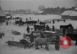 Image of Russian farm workers on snow covered farm Kiev Ukraine, 1947, second 10 stock footage video 65675053671