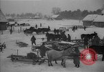 Image of Russian farm workers on snow covered farm Kiev Ukraine, 1947, second 11 stock footage video 65675053671
