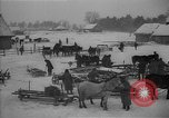 Image of Russian farm workers on snow covered farm Kiev Ukraine, 1947, second 12 stock footage video 65675053671