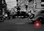 Image of vehicular traffic Rome Italy, 1951, second 6 stock footage video 65675053694