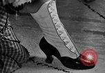 Image of evening shoes Rome Italy, 1951, second 1 stock footage video 65675053695