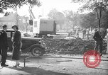 Image of steam shovel and heavy timbers at construction site London England United Kingdom, 1938, second 2 stock footage video 65675053800