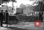 Image of steam shovel and heavy timbers at construction site London England United Kingdom, 1938, second 3 stock footage video 65675053800