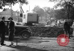 Image of steam shovel and heavy timbers at construction site London England United Kingdom, 1938, second 4 stock footage video 65675053800