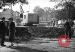 Image of steam shovel and heavy timbers at construction site London England United Kingdom, 1938, second 5 stock footage video 65675053800