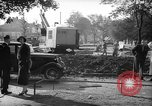 Image of steam shovel and heavy timbers at construction site London England United Kingdom, 1938, second 6 stock footage video 65675053800