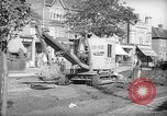 Image of steam shovel and heavy timbers at construction site London England United Kingdom, 1938, second 11 stock footage video 65675053800