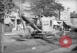 Image of steam shovel and heavy timbers at construction site London England United Kingdom, 1938, second 12 stock footage video 65675053800
