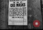 Image of gas masks London England United Kingdom, 1939, second 2 stock footage video 65675053823