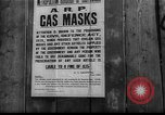 Image of gas masks London England United Kingdom, 1939, second 5 stock footage video 65675053823