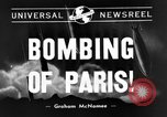 Image of bomb explosions Paris France, 1940, second 1 stock footage video 65675053837