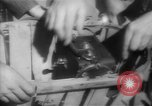 Image of basket of cycle United Kingdom, 1944, second 10 stock footage video 65675053876