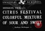 Image of Citrus Festival Mission Texas USA, 1941, second 5 stock footage video 65675053963