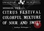 Image of Citrus Festival Mission Texas USA, 1941, second 7 stock footage video 65675053963