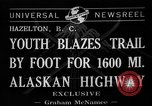 Image of Alaskan Highway Hazelton Canada, 1941, second 2 stock footage video 65675053972