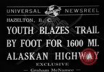 Image of Alaskan Highway Hazelton Canada, 1941, second 3 stock footage video 65675053972