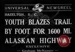 Image of Alaskan Highway Hazelton Canada, 1941, second 7 stock footage video 65675053972