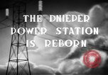 Image of Dnieper Power Plant Ukraine, 1947, second 5 stock footage video 65675054022