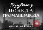 Image of Uralmash heavy machine production facility Yekaterinburg Russia, 1949, second 4 stock footage video 65675054029