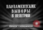 Image of 1949 Hungarian parliamentary elections Hungary, 1949, second 5 stock footage video 65675054032