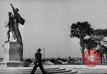 Image of Battery Point statue Charleston South Carolina USA, 1939, second 4 stock footage video 65675054132