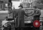 Image of newspaper stalls New York City USA, 1940, second 6 stock footage video 65675054141