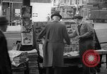 Image of newspaper stalls New York City USA, 1940, second 7 stock footage video 65675054141