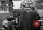 Image of newspaper stalls New York City USA, 1940, second 8 stock footage video 65675054141
