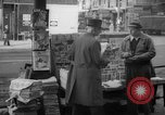 Image of newspaper stalls New York City USA, 1940, second 9 stock footage video 65675054141