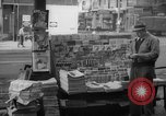 Image of newspaper stalls New York City USA, 1940, second 11 stock footage video 65675054141