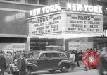 Image of Embassy Newsreel Theater New York City USA, 1940, second 1 stock footage video 65675054142