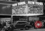 Image of Embassy Newsreel Theater New York City USA, 1940, second 2 stock footage video 65675054142