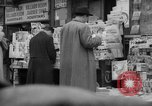 Image of newspaper stalls New York City USA, 1940, second 2 stock footage video 65675054143