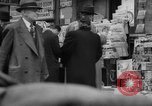 Image of newspaper stalls New York City USA, 1940, second 6 stock footage video 65675054143