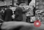 Image of newspaper stalls New York City USA, 1940, second 7 stock footage video 65675054143