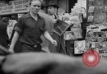 Image of newspaper stalls New York City USA, 1940, second 8 stock footage video 65675054143