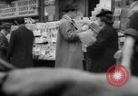 Image of newspaper stalls New York City USA, 1940, second 9 stock footage video 65675054143