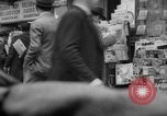 Image of newspaper stalls New York City USA, 1940, second 10 stock footage video 65675054143