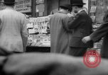 Image of newspaper stalls New York City USA, 1940, second 12 stock footage video 65675054143