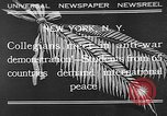 Image of international peace New York City USA, 1932, second 1 stock footage video 65675054200