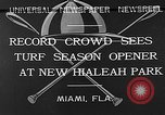 Image of Hialeah Park Miami Florida USA, 1932, second 2 stock footage video 65675054203