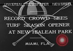 Image of Hialeah Park Miami Florida USA, 1932, second 3 stock footage video 65675054203