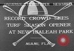 Image of Hialeah Park Miami Florida USA, 1932, second 4 stock footage video 65675054203