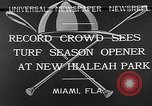 Image of Hialeah Park Miami Florida USA, 1932, second 6 stock footage video 65675054203