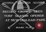 Image of Hialeah Park Miami Florida USA, 1932, second 7 stock footage video 65675054203