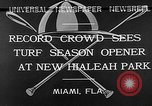 Image of Hialeah Park Miami Florida USA, 1932, second 9 stock footage video 65675054203